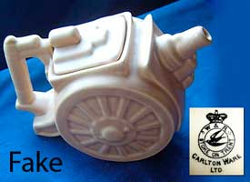 Fake Gun Carriage teapot