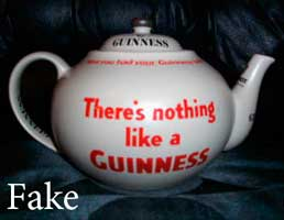 Fake Guinness, Fake Carlton Ware teapot