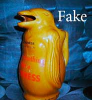 Fake Guinness, Fake Carlton Ware penguin water jug