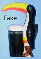 Fake Guinness toucan plaque