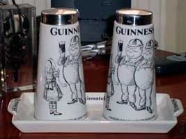 Fake Carlton Ware Guinness Tweedledee & Tweedledum salt & pepper