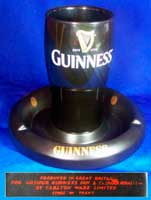 Fake Guinness pint glass ashtray