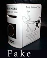 Fake Carlton Ware Guinness book money box 2