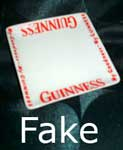 Fake Guinness, fake Carlton Ware dish