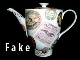Fake Garlton Ware Guinness coffee pot