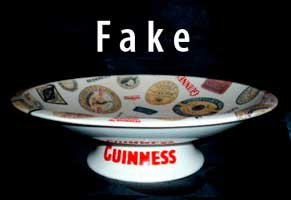 Fake Garlton Ware Guinness comport