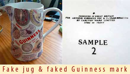 Fake Garlton Ware Guinness jug