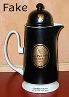 Fake Carlton Ware Guinness OSLO coffee ware