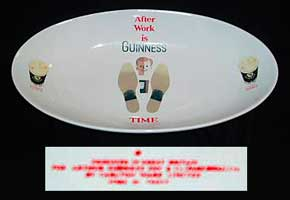 Fake Guinness oval platter
