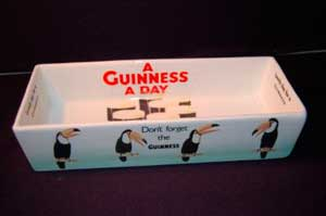 Fake Carlton Ware Guinness rectangular dish