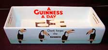 Fake Carlton Ware Guinness rectangular tray