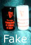 Fake Guinness, fake Carlton Ware salt & pepper