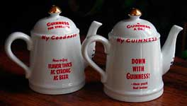 Fake Carlton Ware Guinness salt & pepper in the form of teapots 2