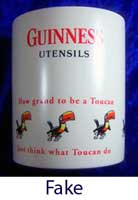 Fake Guinness storage jar