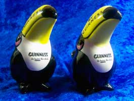 Fake Carlton Ware Guinness toucans salt & pepper