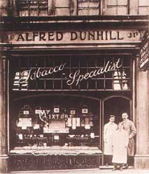 Alfred Dunhill shop in St James' c.1909.