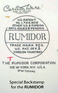 The Special RUMIDOR backstamp.