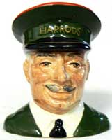 Carlton Ware Harrods Commissionaire Toby jug.
