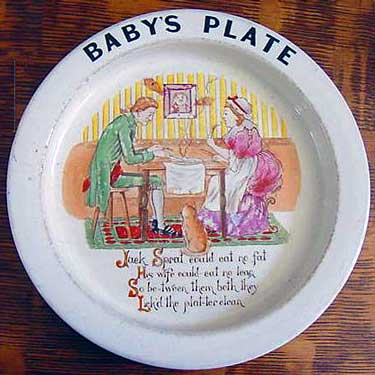 Carlton Ware Baby's Plate - Jack Sprat could eat no fat