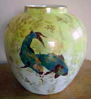 Carp ginger jar