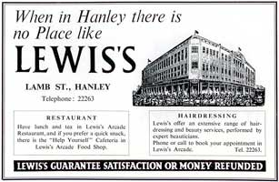 Lewis's Department Store, Hanley.