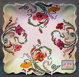 Art Nouveau Poppy 888 tray