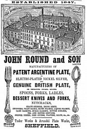 Advertisement for John Round & Sons, Sheffield.