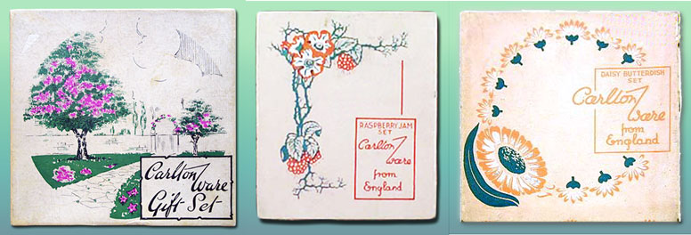 Carlton Ware Box tops used for Fruit & Floral Embossed wares.