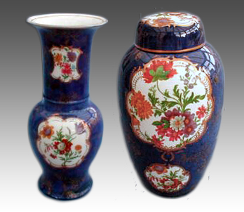 Examples of Carlton Ware's Dresden pattern