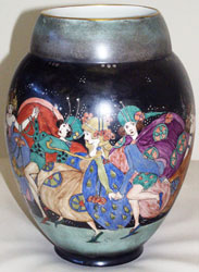 Vase believed to be decorated by Elizabeth Mary Watt
