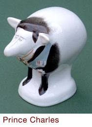 Prince Chales, Carlton Ware sheep by Malcolm Gooding