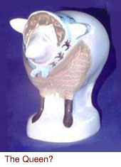 The Queen, Carlton Ware sheep by Malcolm Gooding.