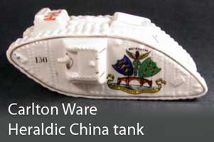 Carlton Ware Heraldic China tank from WW1