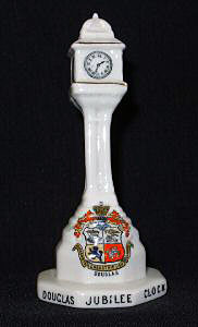 Carlton Heraldic China model of Jubliee Clock, Douglas