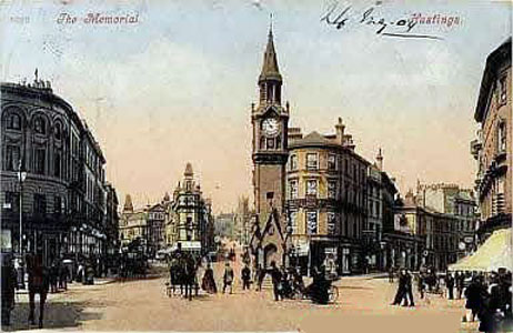 Postcard of Prince Albert Memorial Clock Tower, Hastings