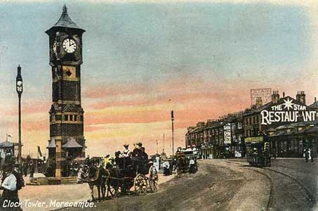 Postcard of Morecambe Clock Tower