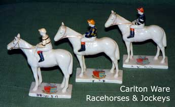 Carlton Ware Heraldic China Racehorses & Jockeys