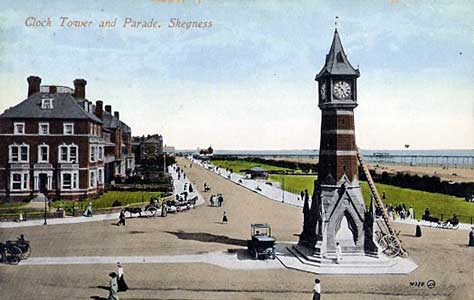 Postcard of Skegness Clock Tower