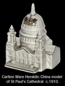 Model of St Paul's Cathedral by Carlton Ware