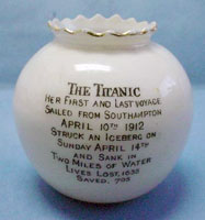 Carlton Ware Titanic china vase back
