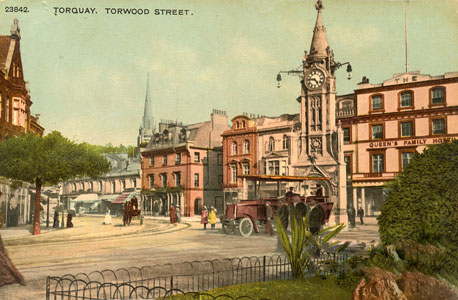 Postcard of Mallock Clock Tower, Torquay