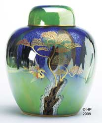 Heron & Magical Tree ginger jar
