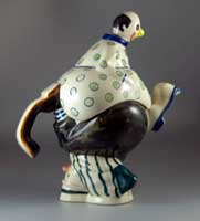 Lustre Pottery Tumbling Clowns teapot