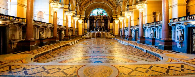 St George's Hall Minton Hollins tilesd floor