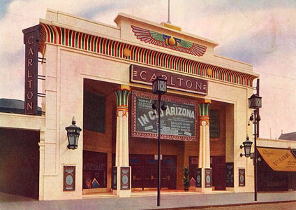 Postcard of Carlton Cinema by Geoage Coles 1930