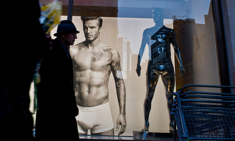 Advert showing David Beckham in underwear