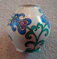 Vase decorated by Elizabeth Mary Watt