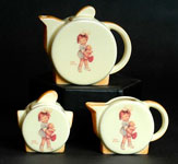 Recent Carlton Ware in the style of Clarice Cliff and Mable Luct Attwell