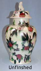 Unfinished ORCHARD covered vase