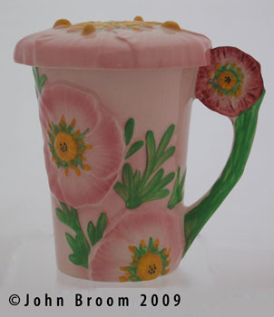 PINK BUTTERCUP chocolate mug & cover